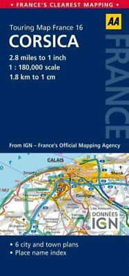 16. Corsica AA Road Map France by Aa Publishing 9780749575601