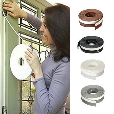25mm*5m Draft Draught Window Door Excluder Seal Tape Self-Adhesive Waterproof SS