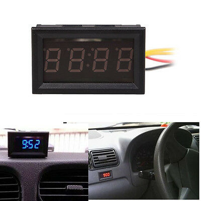 New 4 Digit 0.4inch LED Digital Electronic Clock for Car Motorcycle Motor