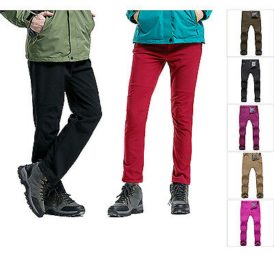 Spring Winter Mens Womens Soft Shell Combat Trousers Outdoor Hiking Sports Pants