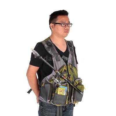 Outdoor Adjustable Fly Fishing Vest Mesh Premium Gear Backpack and Vests P3I8