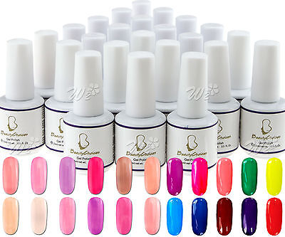 New 24 Pcs Soak Off UV Gel 15ml Nail Art Pure Color Decoration Polish DIY Set