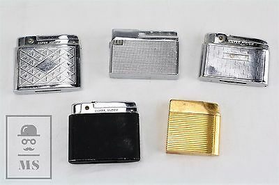 Job Lot of 4 Silver Match Vintage Different Lighters & Special Femme Gold Plated