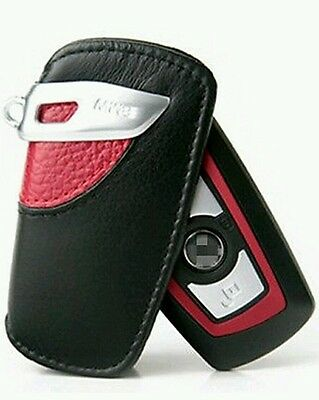 BMW Key Holder Fob Leather Case/Cover M Sport Red 82292219915