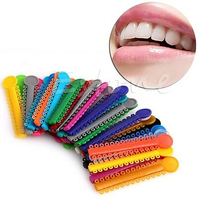 1040Pcs Dental Ligature Ties Orthodontics Elastic Random Color Rubber Bands