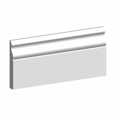 White Primed MR MDF Ogee Skirting Board 18 x 94mm - Architrave available. P&P.