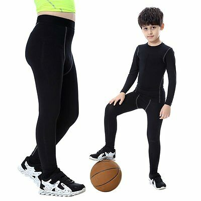 Quick-drying Kids Boys Long/Mid Thigh Compression Base Layer Skins Sport Shorts