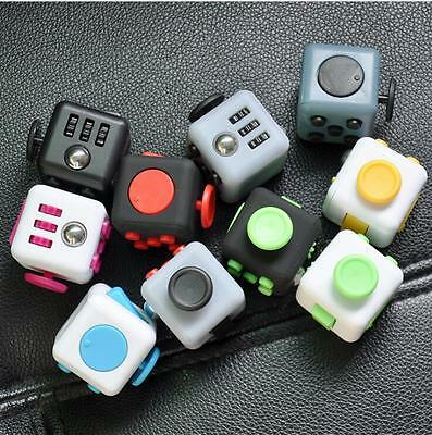11 Colors Magic Fidget Cube Anti-anxiety Adults Stress Relief Kids Toy Xmas Gift
