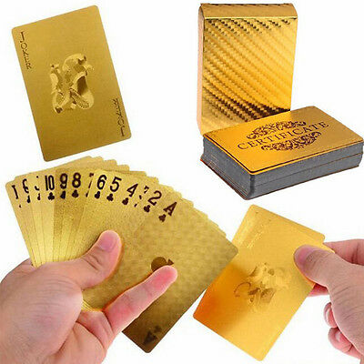 Playing Cards Foil Gold Plated Poker Casino Deck Collection Gilded Poker Play