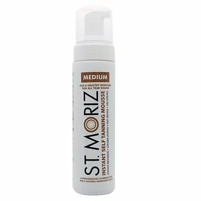 St Moriz Instant Self Tanning Mousse Fake Tan Medium 200ml