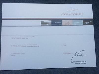 Last Issued Air France Concorde Supersonic Flight Certificate 2001-2003