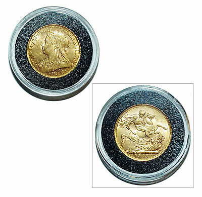 Pre-Owned 1900 Full Sovereign 22ct Gold Coin. Queen Victoria - In Capsule
