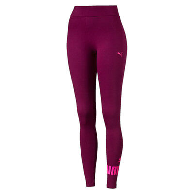 Puma Ladies Essential No 1  Logo Tights - Bnwt - Free Postage Magenta