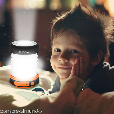 Suaoki Hand Cranking Rechargeable LED Camping Lantern Tent Lamp Torch Foldable