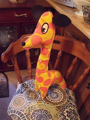Vtg Stacee-See Originals GIRAFFE Stuffed Animal Plush 1960's Doll Long Neck