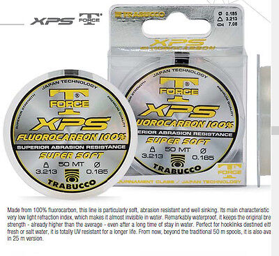 Trabucco T force XPS fluorocarbon 50m . great fly fishing and coarse leader line