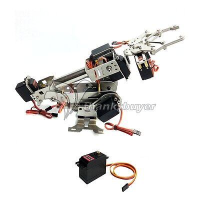 7DOF Mechanical Robot Arm Manipulator with Claw for Arduino Raspberry Assembled