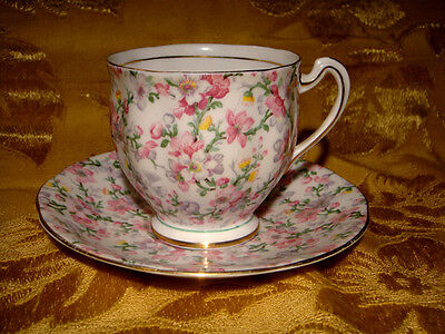 Royal Standard *may Medley* Chintz Cup & Saucer Made In England