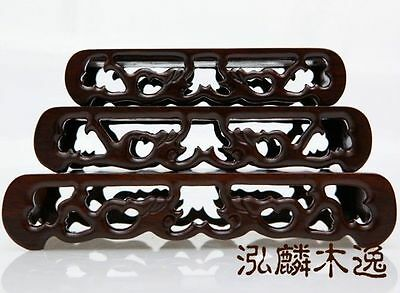 3PC Hard Wood Stand of Netsuke,Snuff bottle,Carving Display