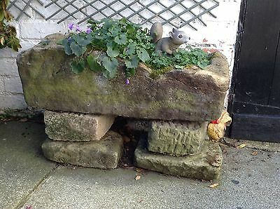 Very Old Stone Trough / Planter Garden Feature Plant Pot VERY HEAVY
