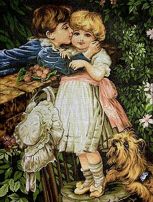 "Gobelin Tapestry Needlepoint Kit ""Sweet Love"" hand embroidery printed canvas 272"
