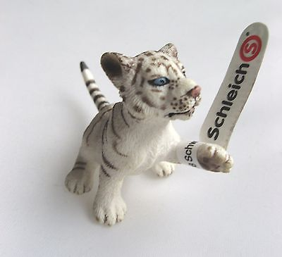 Schleich 14385 - World Of Nature Wild Animals - White Tiger Cub - New With Tags!