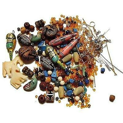 Loose Bead LOT earwires parts kit use as-is or mix match ~ Clay Wood Metal