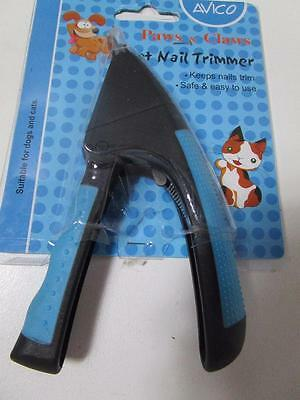 Dog puppy cat kitten claw nail guillotine cutters scissors clippers  EASY GRIP