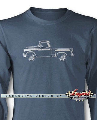 1956 chevrolet pickup task force 3100 long sleeves t-shirt multi  colors &  sizes