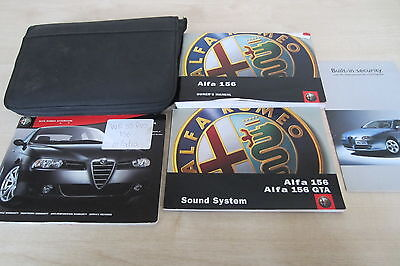 ALFA 156 PRINT DATE: 2003 Owners Manual Handbook & Service Book with Wallet Pack