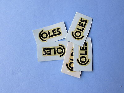 Dinky 972 20 Ton Coles (5 Transfers) Decal/transfer Superb Offer
