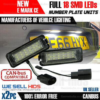VW Golf MK6 6 Passat B6 B7 Polo 6R Beetle EOS LED License Number Plate Light GTI