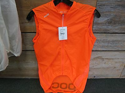 POC AVIP  womens Cycling Wind Vest, ORANGE , MEDIUM  New with Tags-FREE SHIPPING