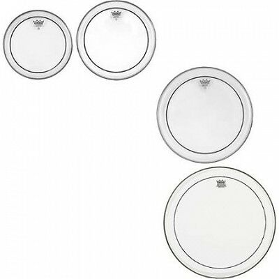 Remo Pinstripe Clear 4-piece Tom Drumhead Pack. Shipping is Free