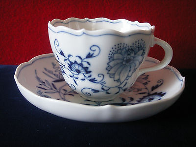 Meissen Blue Onion Cup And Saucer