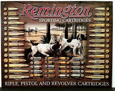 Remington Bullet Board Sporting Cartridges Hunting Collectible Tin Sign 1679 New