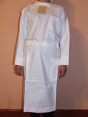 Vintage White Reusable Surgical Gown Size 170 Cm