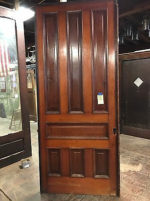 "Antique Pine 7 Panel Pocket Door 42""x103"" Great Sliding Track door2 Available"