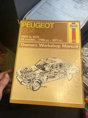 Haynes Peugeot 504 Manual 68-79 Good Condition