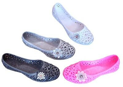 WHOLESALE LOT 48 Pairs Girls Rubber Flat Casual Shoes Slip On Clearance(#6125K)