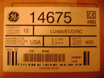 GE 14675 - LU400/ECO/NC High Pressure Sodium Light Bulb, Listing is for (2) BulB