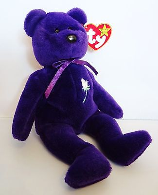 Ty Beanie Babies Princess of Wales Diana memorial 1st edition Indonesia RARE