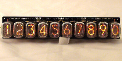 10 Digits In-12 Nixie Tube Clock Web Counter, 2 Alarms