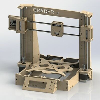 Reprap Graber i3 Laser Cut Frame 6 mm in 6mm Plywood 3D Printer Part