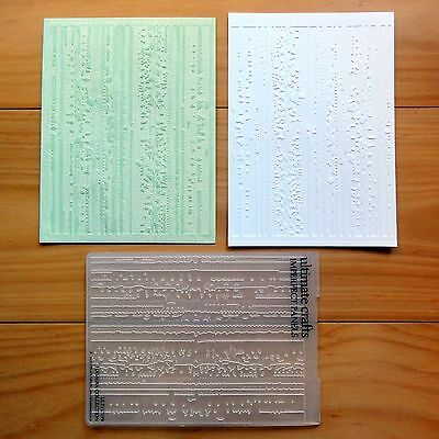 """Ultimate Crafts Imperfect Panels Grunge A2 Embossing Folder """"reduced"""" - Bnip"""