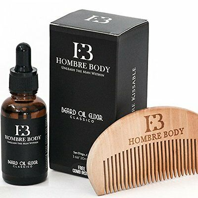 Beard Oil & Comb Set-Beard Care Gift Kit for Professional Men (1fl oz/30ml)