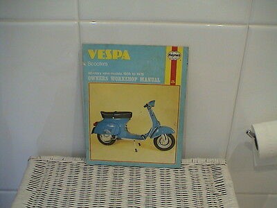 VESPA SCOOTERS 1959 to 1978 SERVICE REPAIR MANUAL BY HAYNES