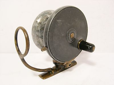 """Vintage Antique Malloch 3 ¼"""" Alloy Side Casting Fishing Reel"""