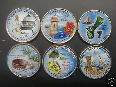 2009 Complete Set Of Colorized State Quarters