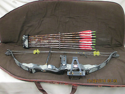 Vintage PSE Mach Flite 4R PSE Matching Sight Quiver OverDraw Pete Sheply Signatu